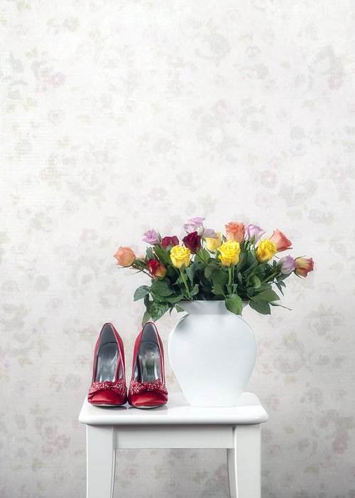 Shoe Greeting Card featuring the photograph Bouquet Of Roses by Joana Kruse