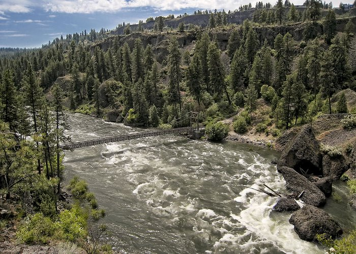 riverside State Park Greeting Card featuring the photograph Bowl And Pitcher Area - Riverside State Park - Spokane Washington by Daniel Hagerman