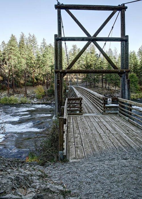 riverside State Park Greeting Card featuring the photograph Bowl And Pitcher Bridge - Spokane Washington by Daniel Hagerman