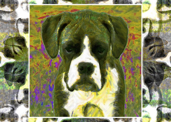Animal Greeting Card featuring the photograph Boxer Dog 20130126 by Wingsdomain Art and Photography