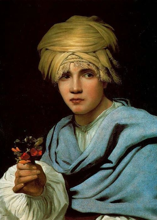 Michiel Sweerts - Boy With A Turban 1656-58 Greeting Card featuring the painting Boy With A Turban by MotionAge Designs