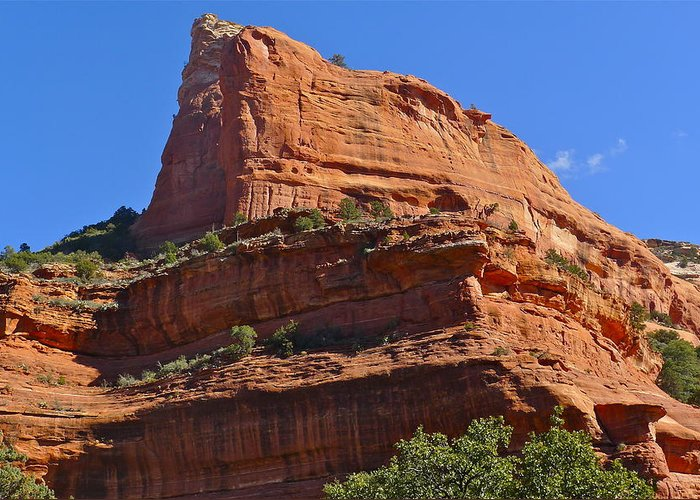 Sedona Greeting Card featuring the photograph Boynton Canyon by Denise Mazzocco