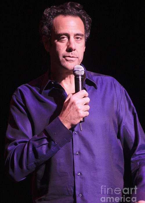 Comdey Greeting Card featuring the photograph Brad Garrett by Concert Photos