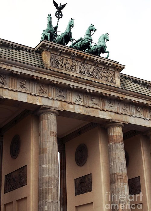 Architecture Greeting Card featuring the photograph Brandenburg Gate by John Rizzuto