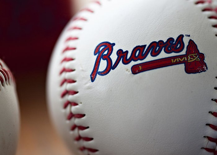 Baseball Greeting Card featuring the photograph Braves Baseball by Ricky Barnard