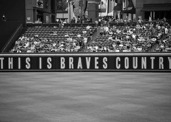 Atlanta Braves Greeting Card featuring the photograph Braves Country by Sara Jackson