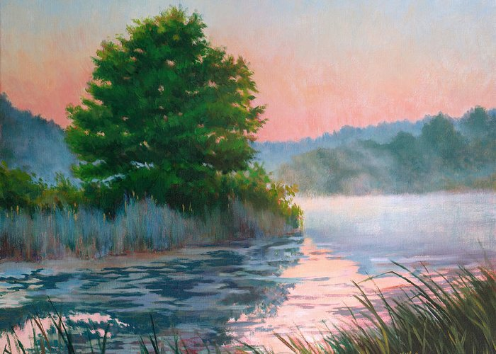 Impressionism Greeting Card featuring the painting Break Of Day by Keith Burgess