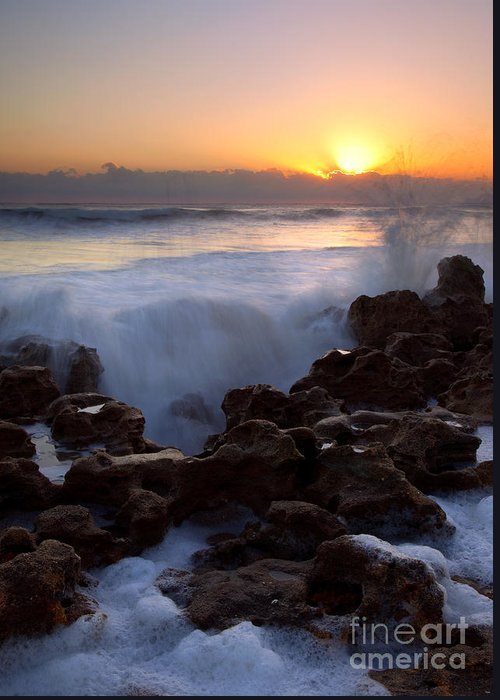 Coral Cove Greeting Card featuring the photograph Breaking Dawn by Mike Dawson