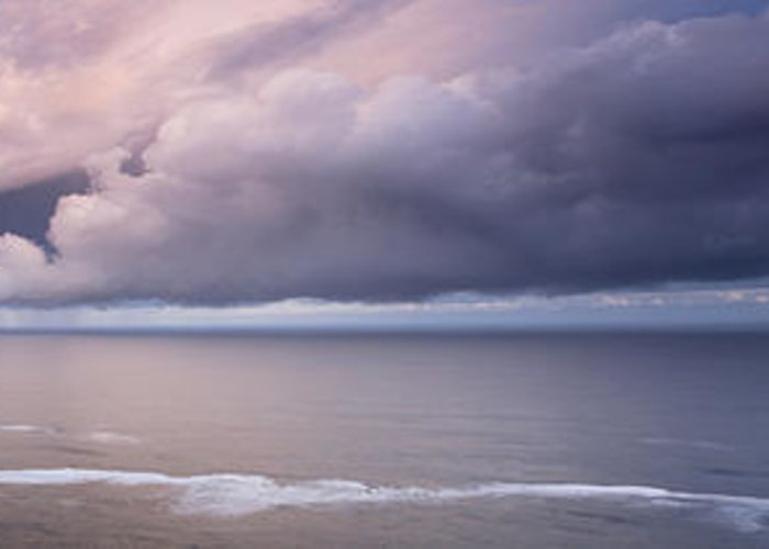Panorama Greeting Card featuring the photograph Breaking Storm by Andrew Soundarajan