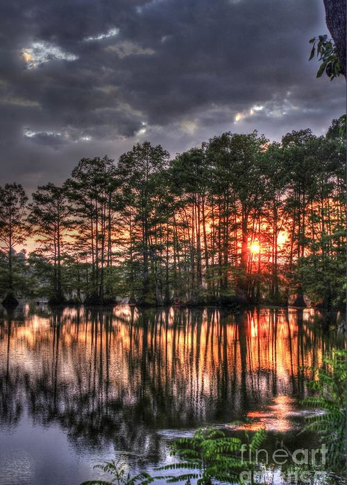 Lake Greeting Card featuring the photograph Breaking Through by Cynthia Broomfield