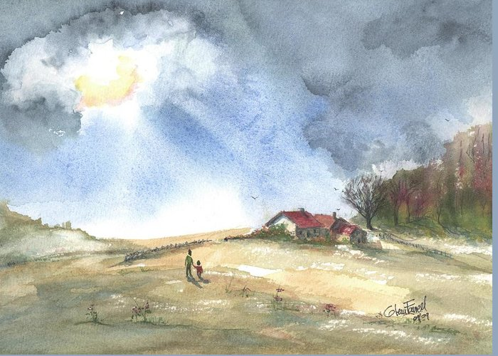 Breakthrough Greeting Card featuring the painting Breakthrough End Of Season by Glenn Farrell