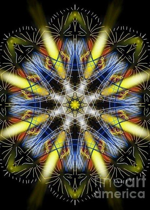 Breath Greeting Card featuring the digital art Breath Mandala by Michael African Visions