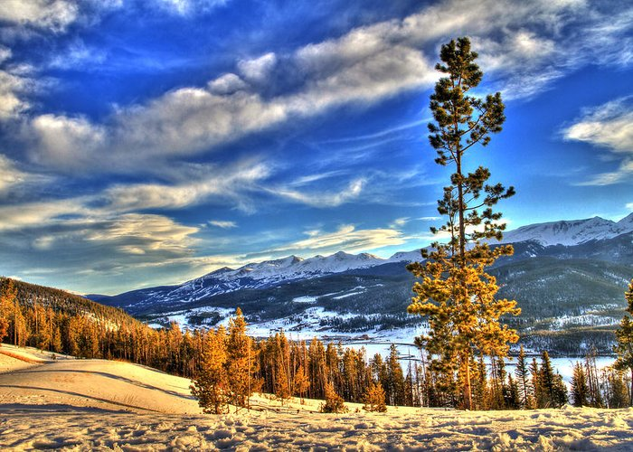 Colorado Greeting Card featuring the photograph Breckenridge Skies by Scott Mahon