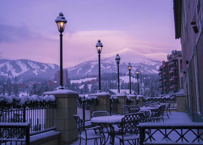 Landscape Greeting Card featuring the photograph Breckenridge Village by Michael J Bauer