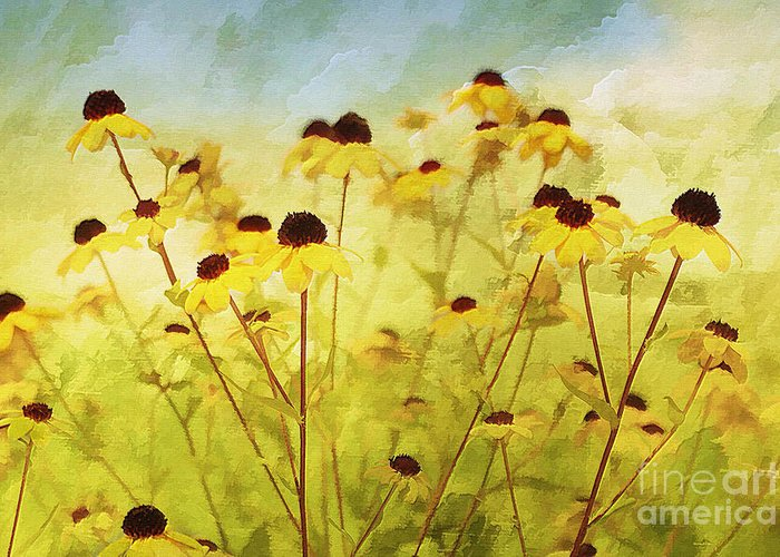 Flowers Greeting Card featuring the photograph Breeze by Elaine Manley