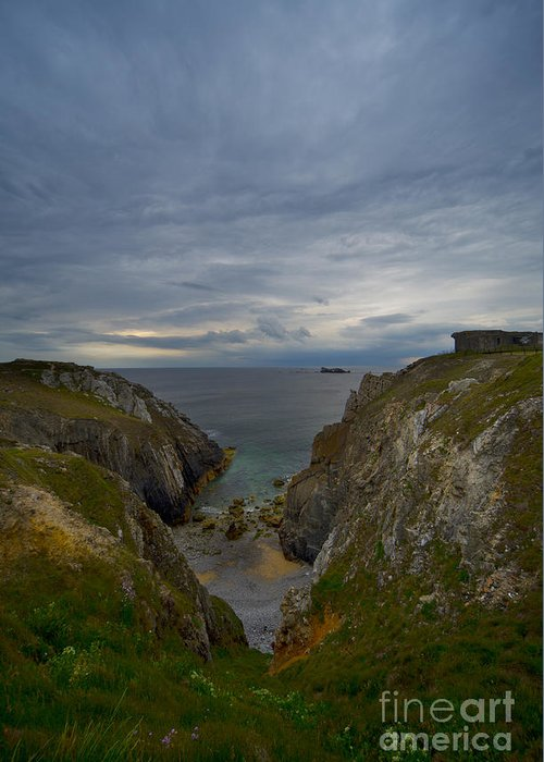 Outdoors Greeting Card featuring the photograph Bretagne Cliffs by Jaroslaw Blaminsky