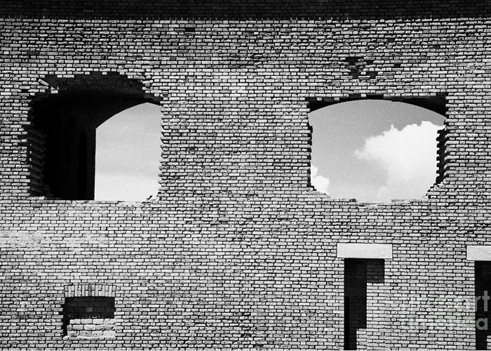Fort Greeting Card featuring the photograph Brick Construction Of The Walls Of Fort Jefferson Dry Tortugas National Park Florida Keys Usa by Joe Fox