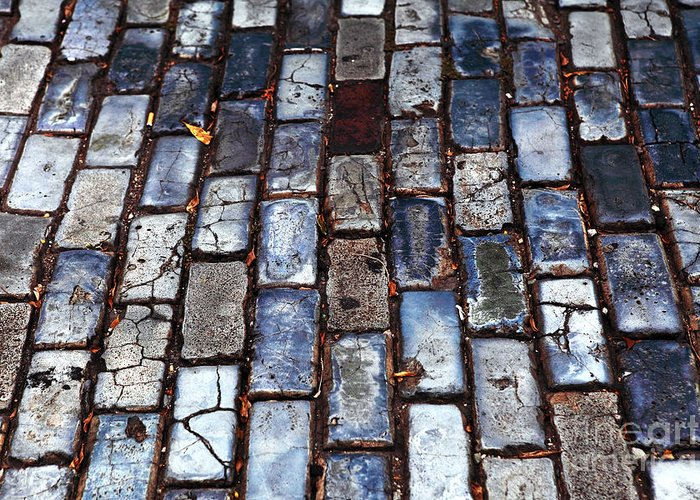 Brick Street Greeting Card featuring the photograph Brick Street by John Rizzuto