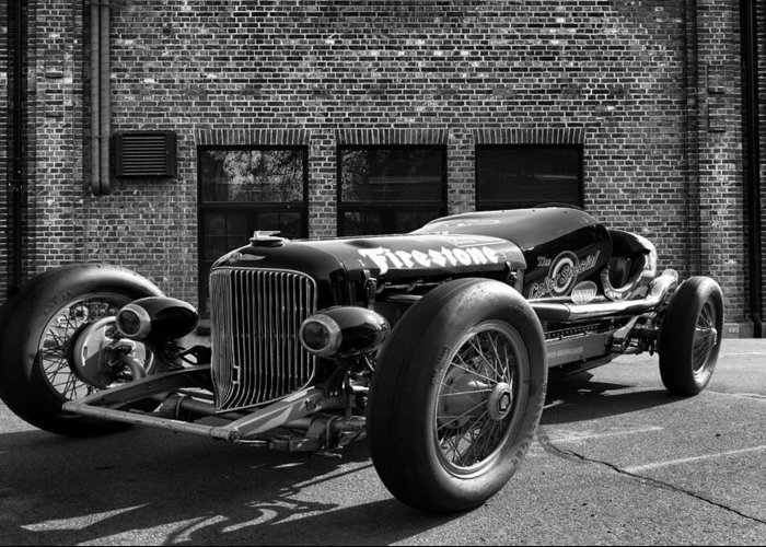 Buick Greeting Card featuring the photograph Brickyard Buick by Peter Chilelli