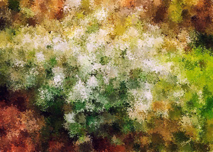 Floral Greeting Card featuring the painting Bridal's Wreath by Brenda Bryant