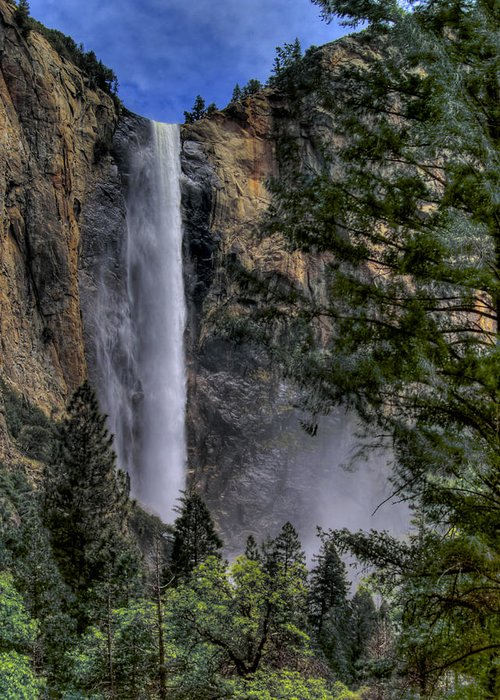 Waterfall Greeting Card featuring the photograph Bridalveil Falls by Bill Gallagher