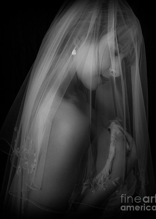 Blonde Greeting Card featuring the photograph Bride To Be by Tatiana Hewett