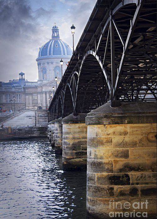 Architecture Greeting Card featuring the photograph Bridge Over Seine In Paris by Elena Elisseeva