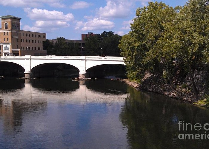 Indiana Greeting Card featuring the photograph Bridge Over The St. Joseph River -- South Bend by Anna Lisa Yoder