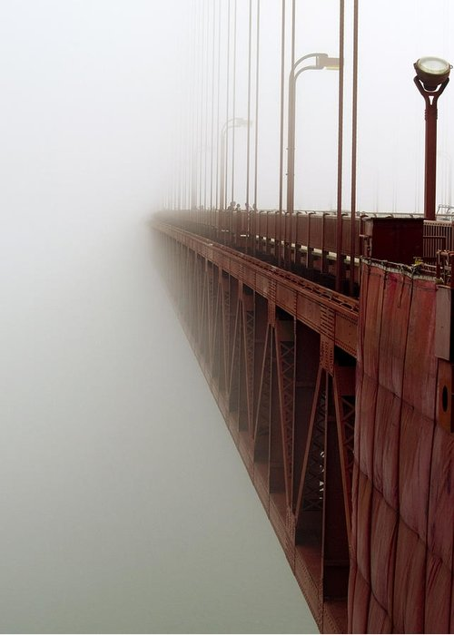 Fog Greeting Card featuring the photograph Bridge To Obscurity by Bill Gallagher