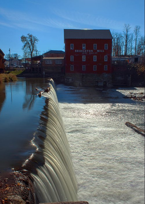 Parke County Indiana Greeting Card featuring the photograph Bridgeton Mill by Thomas Sellberg