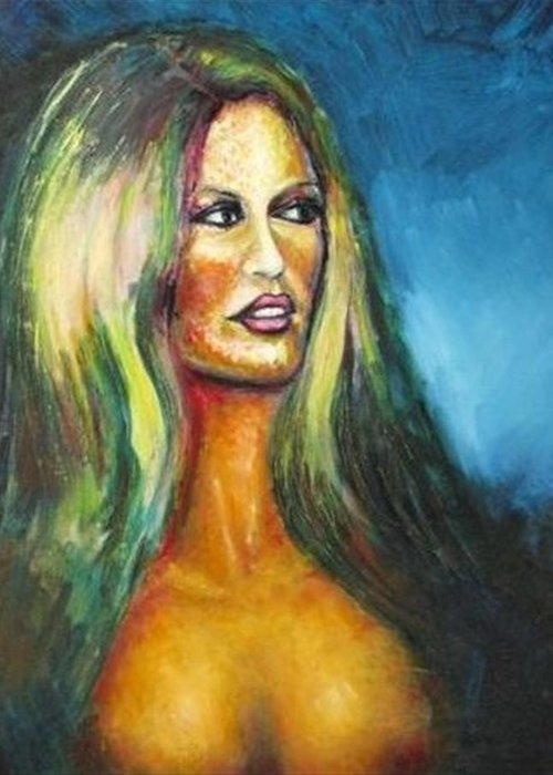 Portraits Greeting Card featuring the photograph Bridgit Bardot by Malcolm McCoull