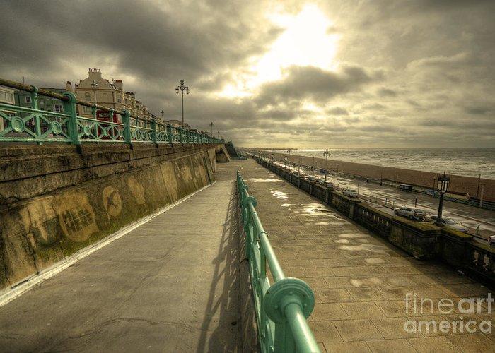 Brighton Greeting Card featuring the photograph Brighton Promenade by Rob Hawkins