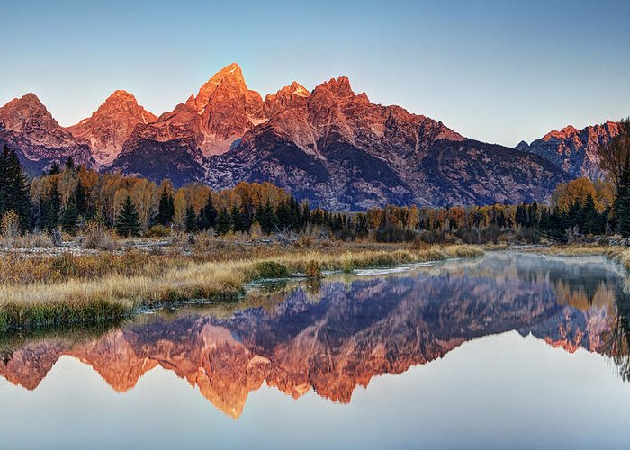 Grand Teton National Park Greeting Card featuring the photograph Brilliant Cathedral by Mark Kiver