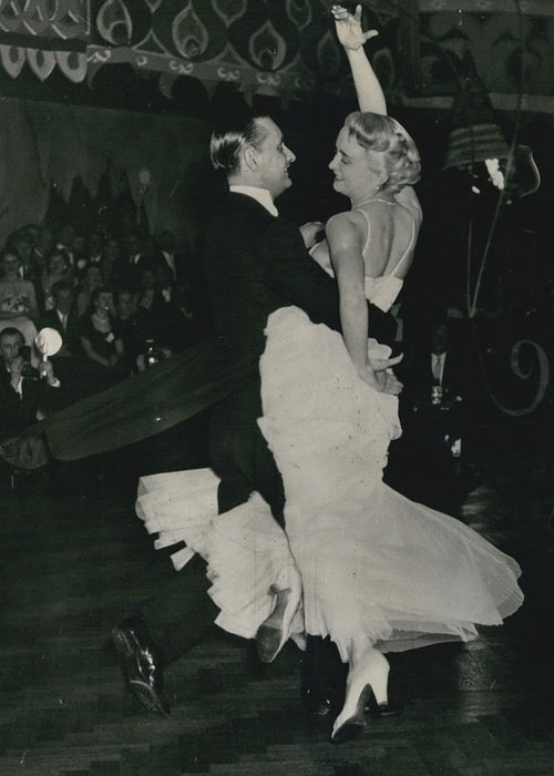 retro Images Archive Greeting Card featuring the photograph Brit I H Pajr Wins Dancing Grand Prix by Retro Images Archive