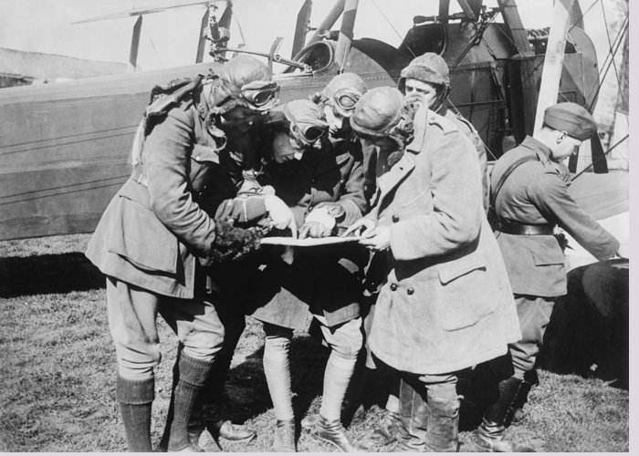 Human Greeting Card featuring the photograph British Aviators, Early 20th Century by Science Photo Library