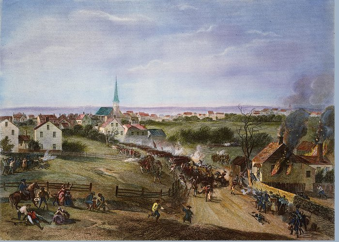 1775 Greeting Card featuring the photograph British Retreat, 1775 by Granger