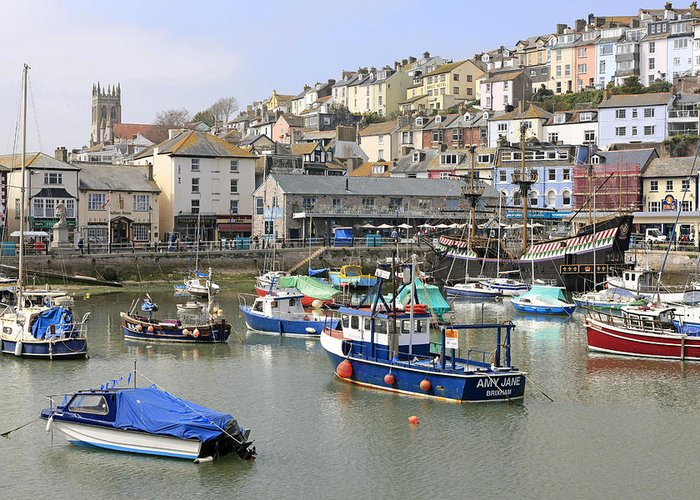 Brixham Greeting Card featuring the photograph Brixham Color by Chris Smith