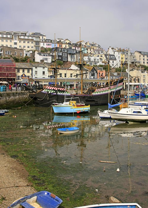 Brixham Greeting Card featuring the photograph Brixham Colors by Chris Smith