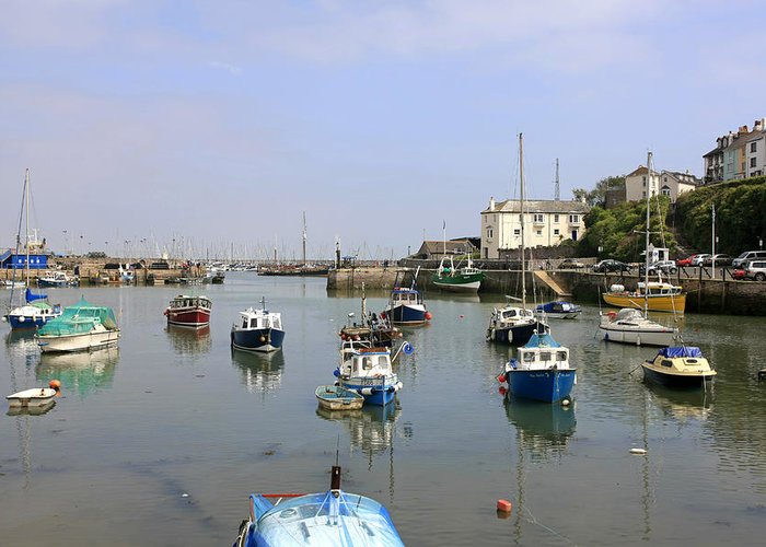 Brixham Greeting Card featuring the photograph Brixham In Devon by Chris Smith