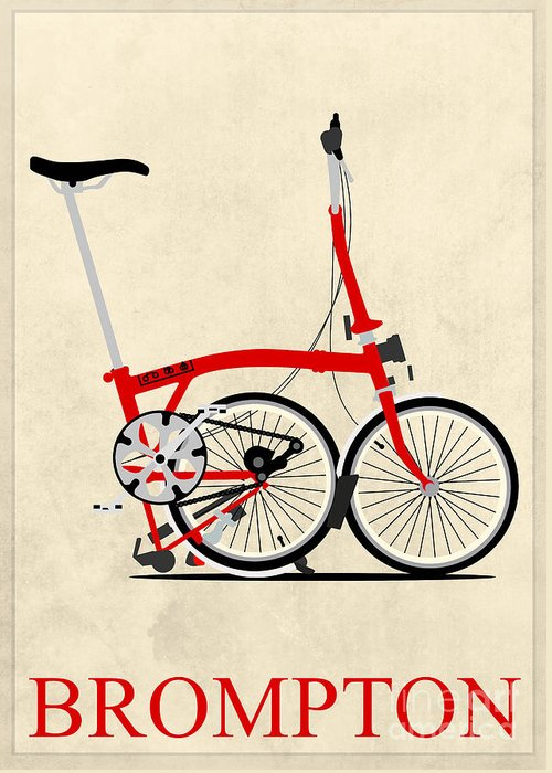 Bike Greeting Card featuring the photograph Brompton Bike by Andy Scullion