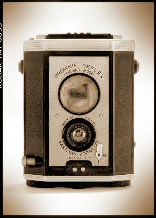 Classic Camera Greeting Card featuring the photograph Brownie Reflex by Mike McGlothlen