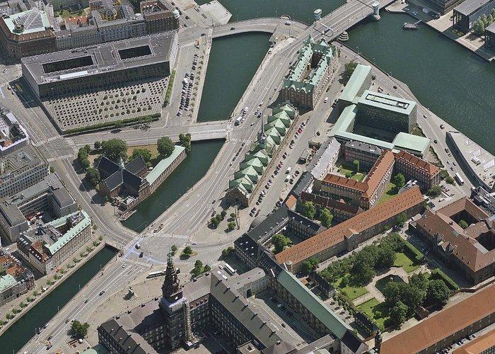 Baltic Sea Greeting Card featuring the photograph Børsen, Copenhagen by Blom ASA