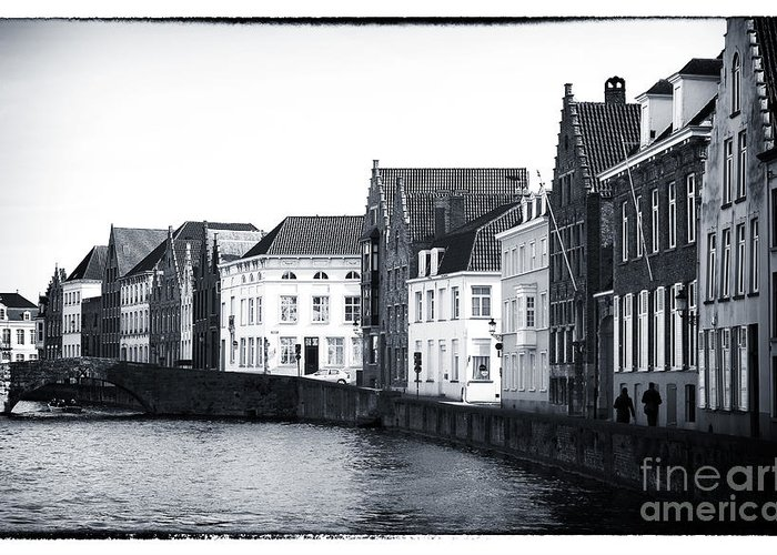 Bruges Canal Scene Greeting Card featuring the photograph Bruges Canal Scene Ix by John Rizzuto