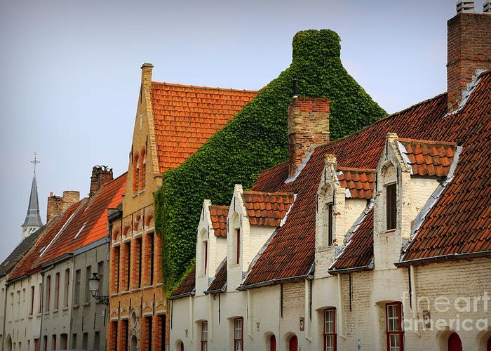 Bruges Greeting Card featuring the photograph Bruges Rooftops by Carol Groenen