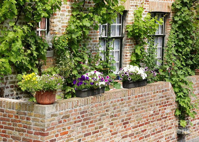 Bruges Greeting Card featuring the photograph Brugge Balcony by Carol Groenen