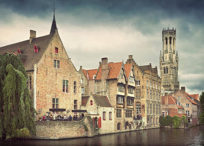 Tranquility Greeting Card featuring the photograph Brugge by Ellen Van Bodegom
