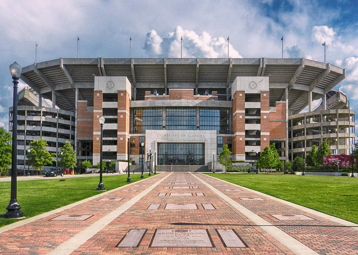 Crimson Tide Football Greeting Card featuring the photograph Bryant Denny Stadium by Ben Shields