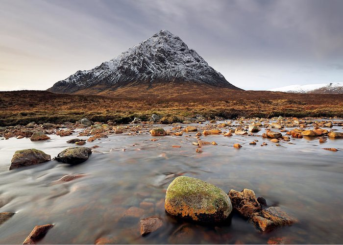 Glencoe Greeting Card featuring the photograph Buachaille Etive Mor by Grant Glendinning