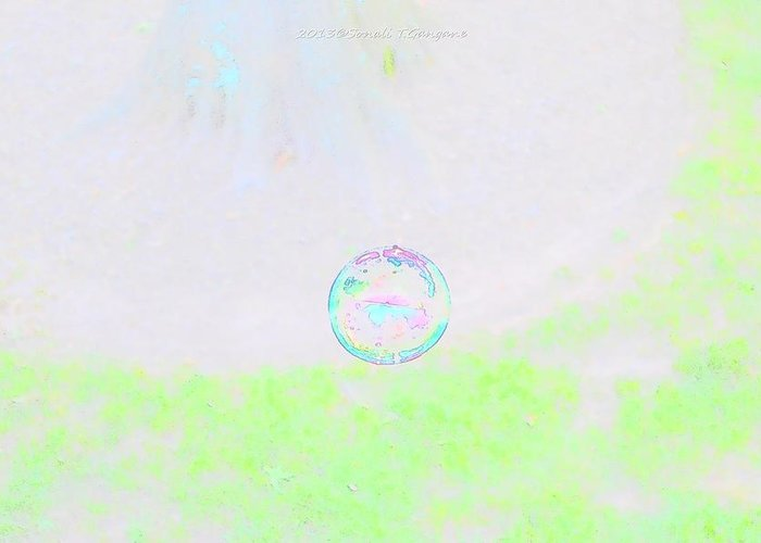 Bubble World Greeting Card featuring the photograph Bubble Of Joy by Sonali Gangane