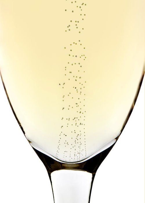 Detail Greeting Card featuring the photograph Bubbles In Champagne by Johan Swanepoel